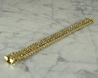 """14K Gold Bracelet (7 1/8"""")"""
