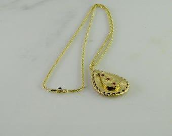 "Poison Locket 14 KT Gold on 14 KT Gold Chain 24"""