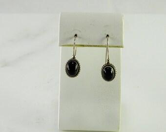 Petite Onyx Sterling Pierced Earrings