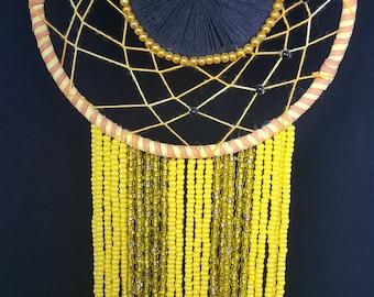 Yellow&Gold Color Black-Eyed Susan Dreamcatcher