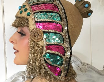 1930/40's Original Folie Bergeres Egyptian Revival Stage headdress Mata Hari