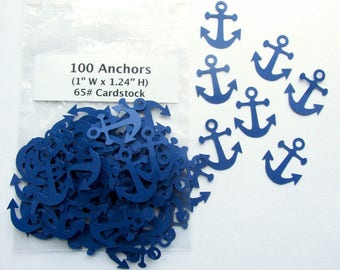 Anchor Cardstock Die Cuts Confetti, Embellishments, Craft supply, Card making, Scrapbook, Kid crafts, Birthday party, Table decor, Nautical
