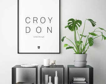 Croydon, London Borough | London Print | London Artwork | London Illustration | Architecture Print | City Print