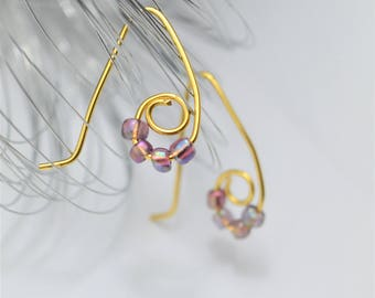 Wire Earrings with rockery