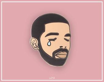 Crying Drake Enamel Pin, Enamel Pin, hard enamel, Pin badge, Lapel Pin, Pin badges, brooch, flair, pin game, cute pin, gift for her