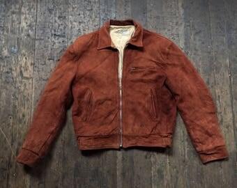 1950s vintage Symax Garment Co suede leather jacket