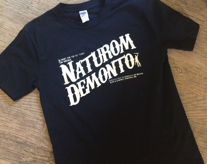 Featured listing image: The Evil Dead t-shirt - Naturom Demonto - 80's horror movie shirt - cult movie tee - Nameless City Apparel - screen printed graphic tshirt