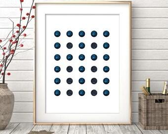 Geometric Print, Wall Print, Navy Geometric, Printable Art, Navy Art, Blue Geometric Art, Wall Art, Navy Wall Prints, Blue Art, Geometric