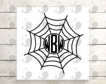 Spider Web Monogram Iron On Decal, Spider Web Monogram Heat Transfer Decal, Halloween Monogram Heat Transfer Decal