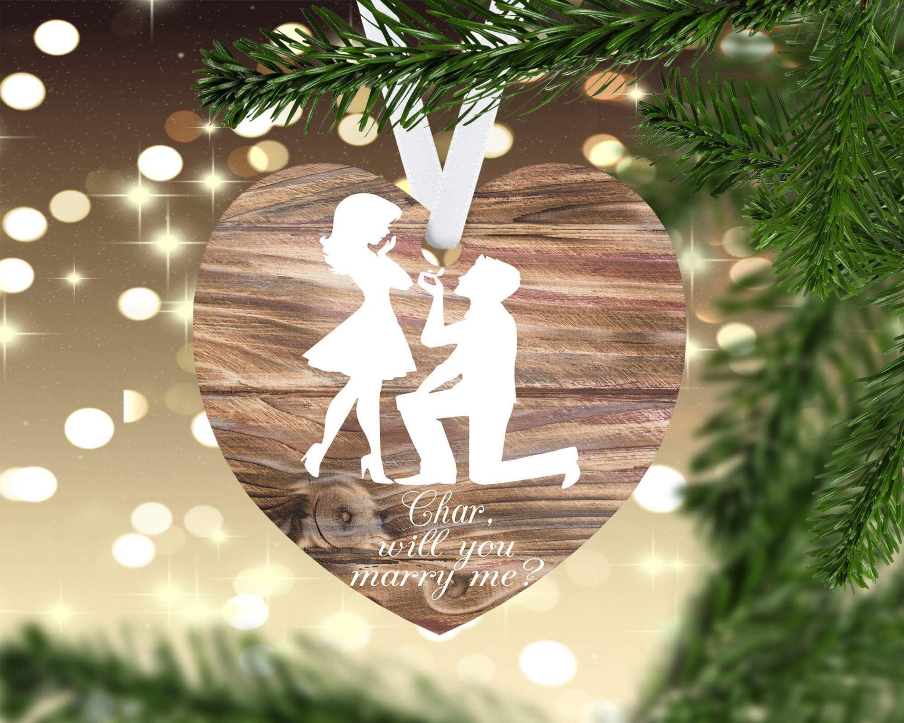 Proposal Ornament Christmas Proposal Will You Marry Me