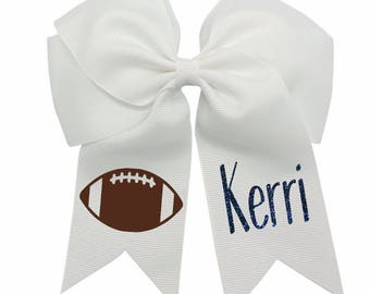 Monogram Football Hairbow-Football Hair Bow-Girl Football Outfit-NFL Football Hair Bow-Monogram Hairbow-Football Hairbow-Girl Hairbow