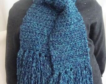 Blue Scarf - Blue Winter Scarf - Soft Blue Scarf - Womens Blue Scarf - Womens Blue Winter Scarf - Womens Winter Scarf - Soft Scarf