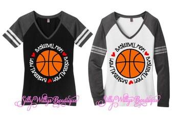 Basketball mom shirt, Basketball mom tee, Basketball mom, Basketball mom top, Mom spirit shirt,