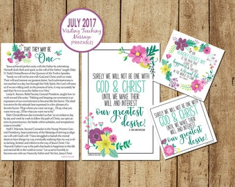 July 2017 Visiting Teaching Message
