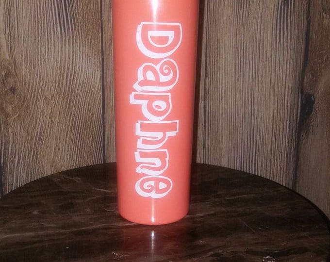 Personalized Skinny Tumbler 20 oz. Slim Jim Stainless Steel Double Wall Cup drinkware