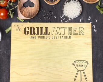 Personalized Cutting Board, Engraved Cutting Board, Custom Cutting Board, Fathers Day Gift, Gift for Him, Gift for Dad, Grill Father, B-0114