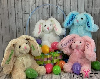 Personalized Bunny-First Easter-Easter Basket Bunny-Plush Bunny-Personalized Baby Gift-Baby's 1st Easter-Easter Gift-Easter Gift For Kids