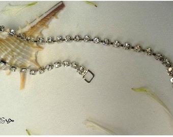 Rhinestone Bracelet, Tennis Bracelet, Crystal Bracelet,  Crystal Tennis  Bracelet, Faux Diamond Bracelet, Bridal Bracelet, Wedding Bracelet