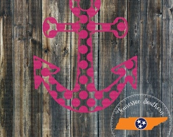 Anchor Decal | Dotted Anchor Decal | Nautical Decal | Phone Decal | Car Decal | Window Decal | Laptop Decal | Yeti Decal | Tumbler Decal