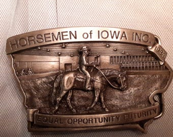 Vintage Limited Edition Numbered Western Belt Buckle 1986