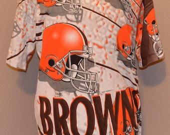 90's Cleveland Browns Magic Johnson T's Shirt XL X-Large 100% Cotton