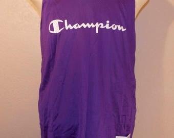 Vintage Champion Reversible Basketball Jersey Purple Teal XL X-Large Polyester