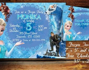 Frozen Invitation frozen Birthday Invitation Frozen Party Invitation Frozen Elsa Invitation Elsa Birthday Digital Invitation Frozen Birthday
