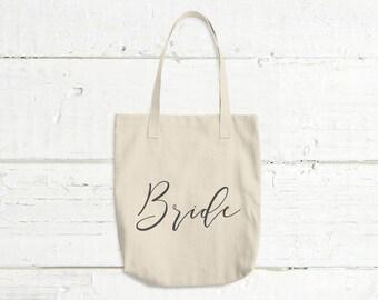 Bride Tote Bag - Bridal Shower Gift - Gift For Bride - Engagement Gift - Gift For Her - Wedding Tote Bag - Minimal Tote Bag - Market Bag