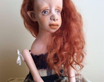Art doll, Ooak art doll, Art clay doll, Handmade doll