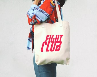Fight Club, Tote Bag - David Fincher - Gift for Movie Fan - Fight Club fan - Cinephile gift - Movies Totes - Tyler Durden - Film Tote Bag