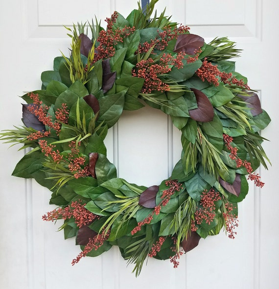 Custom sizes, fall wreath, preserved wreath, small wreath, leaf wreath, large wreath, indoor wreath, eucalyptus wreath, natural wreath