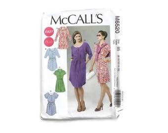 2000 Sewing Pattern - McCalls 6520 - Belted Shirt Dress UNCUT