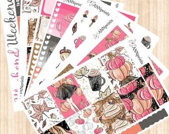 AP071 Pumpkin weekly planner sticker kit erin condren happy planner