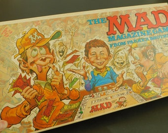 Classic Vintage Mad Magazine Game, Parker Brothers, Grown Up Board Game, Adults, Children, Graduation Gift, Man Cave, Tabletop, Collectible