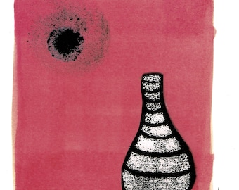 InkPots No.5 Greeting Card Bottlekiln Stoke Staffordshire Abstract