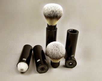 Travel Shaving Brush, Anodized Aluminum Shaving Brush, Vegan Shaving Brush, Vegan, Father's Day Gift, shaving gift, Byron Shaving Company