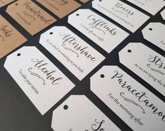 Groom Survival Kit Tags - Groom Box Tags - Groom Gift Tags - Groom Gift from Bride - Groom Gift Box Tags - Wedding Gift Tags - Set of 12