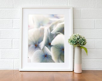 Gift-for-her blue hydrangea print, art gift for her, gifts for her, gifts for her 2018, gift for sister, gift for mum, gifts for women
