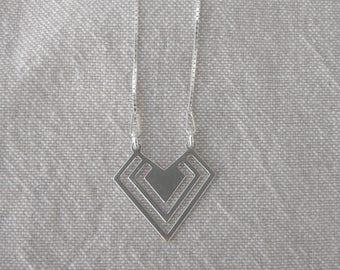 """Shield"" Silver Choker"