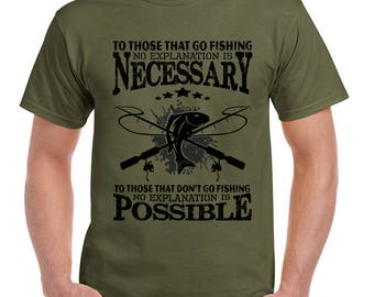 To Those That Fish Mens Funny Fishing T-Shirt Fisherman Tackle Rod Reel Nets 2173