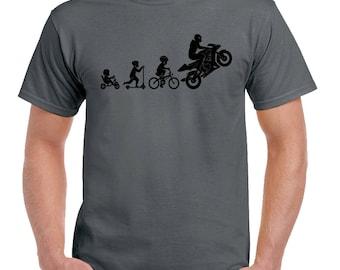 Motorbike Evolution - Mens Funny Superbike T-Shirt Motorcycle Sports Bike Biker 2281