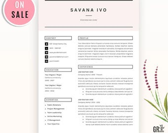 Sale - Resume Template - CV Template - with Cover Letter and References Template and Icon Pack - A4 and Letter - for Microsoft Word