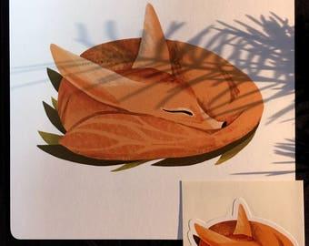 Fox - Art print+ sticker