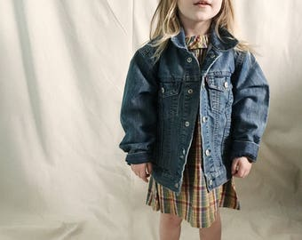 Vintage Kids Denim Jacket // 6T