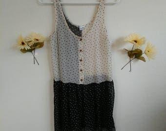 Black & White Confetti Dress