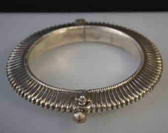 India Hinged Silver Bangle Bracelet TJ 33 c