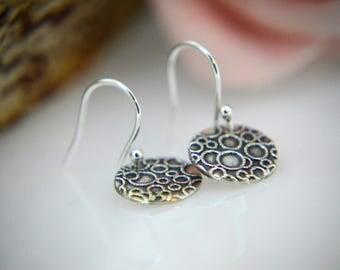 Silver Earrings, Round drop earrings, Bubble Earrings, Dangly Earrings, Round circles Earrings, fun, circles, bubbles Earrings (UK)