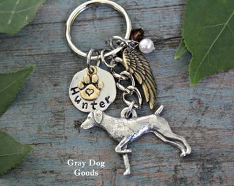 German Shorthaired Pointer Memorial KeyChain, GSP Key Chain, Dog Memorial Key Chain, Dog Sympathy Gift, Read Full Listing Details