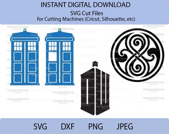 Doctor Who SVG, Tardis svg, Seal of Rassilon SVG, Cut File, Cricut Cut File, Silhouette Cut File, dxf, png, Dr. Who SVG