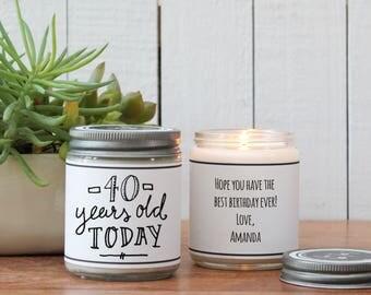 40th Birthday Gift Candle - Milestone Birthday Gift - ANY AGE | Birthday Card | Send a Birthday Gift | Milestone Birthday Card